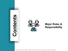 Contents Slide Management Ppt PowerPoint Presentation Slides Infographics