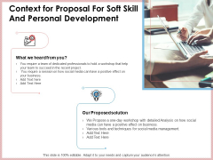 Context For Proposal For Soft Skill And Personal Development Ppt Infographics Slide Download PDF