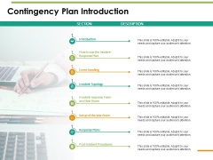 Contingency Plan Introduction Ppt PowerPoint Presentation Inspiration Graphic Images