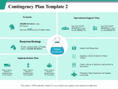 Contingency Plan Template 2 Ppt PowerPoint Presentation Inspiration Icons