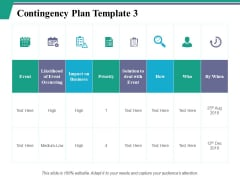 Contingency Plan Template Ppt PowerPoint Presentation Slides Microsoft