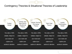 Contingency Theories And Situational Theories Of Leadership Ppt PowerPoint Presentation Guide