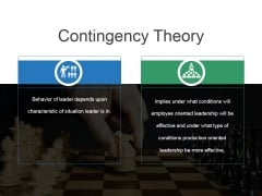 Contingency Theory Ppt PowerPoint Presentation Microsoft
