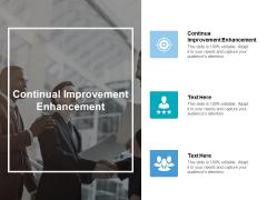 Continual Improvement Enhancement Ppt PowerPoint Presentation Styles Microsoft Cpb