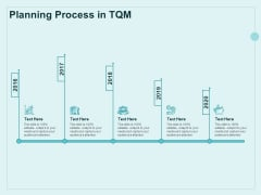 Continual Improvement Model Planning Process In TQM Ppt Styles Example Topics PDF