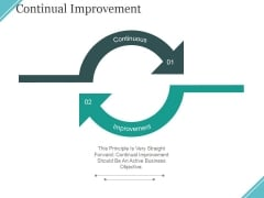 Continual Improvement Ppt PowerPoint Presentation Icon Summary