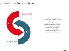 Continual Improvement Ppt PowerPoint Presentation Inspiration Slide Portrait