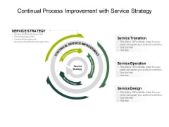 Continual Process Improvement With Service Strategy Ppt PowerPoint Presentation File Mockup PDF