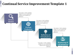 Continual Service Improvement Template 1 Ppt PowerPoint Presentation Summary Clipart
