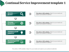 Continual Service Improvement Template 1 Ppt PowerPoint Presentation Summary Show