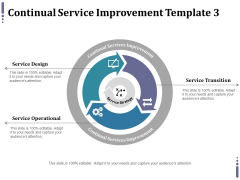 Continual Service Improvement Template 3 Ppt PowerPoint Presentation Inspiration Tips
