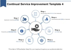 Continual Service Improvement Template 4 Ppt PowerPoint Presentation Ideas Slide Download
