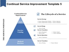 Continual Service Improvement Template 5 Ppt PowerPoint Presentation Icon Example File