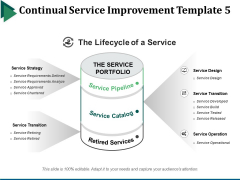 Continual Service Improvement Template 5 Ppt PowerPoint Presentation Summary Templates