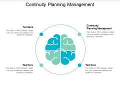 Continuity Planning Management Ppt PowerPoint Presentation Model Picture Cpb