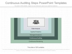 Continuous Auditing Steps Powerpoint Templates