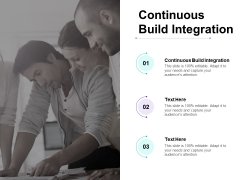 Continuous Build Integration Ppt PowerPoint Presentation Styles Skills Cpb
