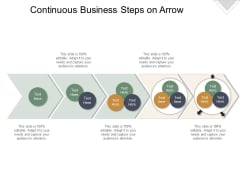 Continuous Business Steps On Arrow Ppt PowerPoint Presentation Icon Vector