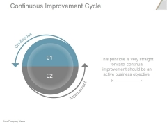 Continuous Improvement Cycle Ppt PowerPoint Presentation Model