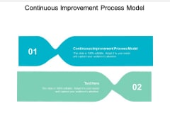 Continuous Improvement Process Model Ppt PowerPoint Presentation Gallery Display Cpb