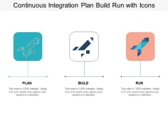 Continuous Integration Plan Build Run With Icons Ppt PowerPoint Presentation Portfolio File Formats