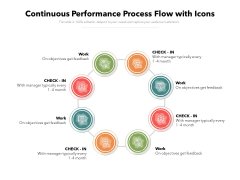 Continuous Performance Process Flow With Icons Ppt PowerPoint Presentation File Tips PDF