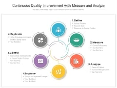 Continuous Quality Improvement With Measure And Analyze Ppt PowerPoint Presentation File Guide PDF