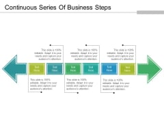 Continuous Series Of Business Steps Ppt PowerPoint Presentation Infographics Templates