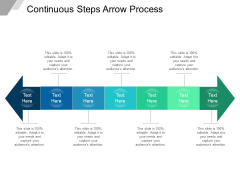 Continuous Steps Arrow Process Ppt PowerPoint Presentation Icon Visuals