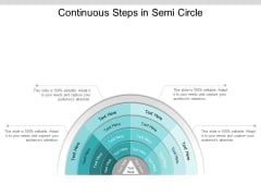 Continuous Steps In Semi Circle Ppt PowerPoint Presentation Summary Inspiration