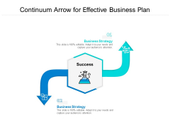 Continuum Arrow For Effective Business Plan Ppt PowerPoint Presentation Gallery Background Images PDF