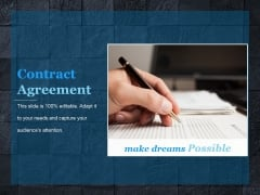 Contract Agreement Template 1 Ppt PowerPoint Presentation Portfolio