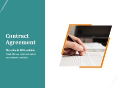 Contract Agreement Template 2 Ppt PowerPoint Presentation Deck
