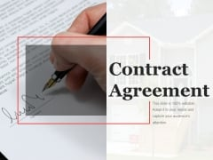 Contract Agreement Template 2 Ppt PowerPoint Presentation Ideas Deck