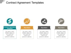 Contract Agreement Templates Ppt PowerPoint Presentation Styles Visuals