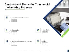 Contract And Terms For Commercial Undertaking Proposal Ppt Layouts Slideshow PDF
