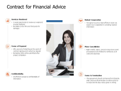 Contract For Financial Advice Ppt Powerpoint Presentation Inspiration Clipart Images