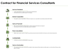 Contract For Financial Services Consultants Ppt PowerPoint Presentation Professional Templates