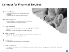 Contract For Financial Services Opportunity Ppt PowerPoint Presentation Model Graphic Tips