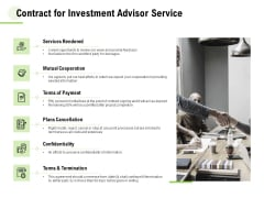 Contract For Investment Advisor Service Ppt Information PDF