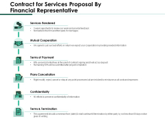 Contract For Services Proposal By Financial Representative Formats PDF