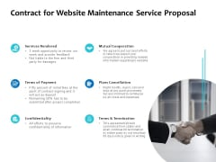 Contract For Website Maintenance Service Proposal Ppt PowerPoint Presentation Show