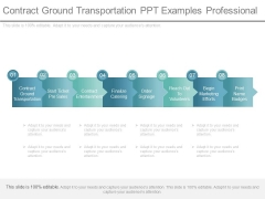 Contract Ground Transportation Ppt Examples Professional