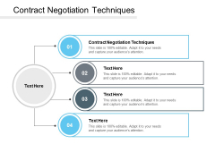 Contract Negotiation Techniques Ppt PowerPoint Presentation Infographics Infographics Cpb