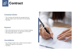 Contract Planning Ppt PowerPoint Presentation Styles Objects