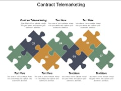 Contract Telemarketing Ppt PowerPoint Presentation Slides Portfolio Cpb