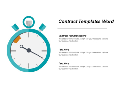 Contract Templates Word Ppt PowerPoint Presentation File Show Cpb