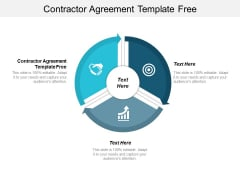 Contractor Agreement Template Free Ppt PowerPoint Presentation Show Files Cpb