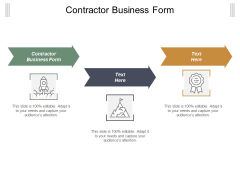 Contractor Business Form Ppt Powerpoint Presentation Slides Shapes Cpb