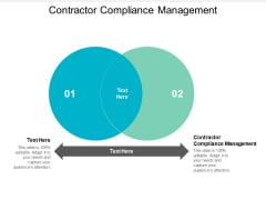 Contractor Compliance Management Ppt PowerPoint Presentation Infographics Guidelines Cpb